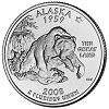 Commemorative state quarter of Alaska.