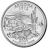 Commemorative state quarter of Arizona.