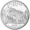 Commemorative state quarter of Colorado.