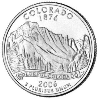 Reverse coin side (tails) of the Colorado quarter.
