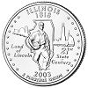 Commemorative state quarter of Illinois.