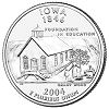 Commemorative state quarter of Iowa.