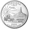 Commemorative state quarter of Nebraska.