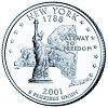 Commemorative state quarter of New York.