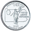 Commemorative state quarter of Pennsylvania.