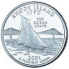 Commemorative state quarter of Rhode Island.