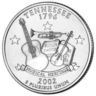 Reverse coin side (tails) of the Tennessee quarter.
