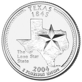 Reverse coin side (tails) of the Texas quarter.