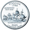 Commemorative state quarter of Virginia.
