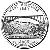 Commemorative state quarter of West Virginia.