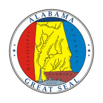 Official Alabama state seal.