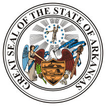 Official Arkansas state seal.