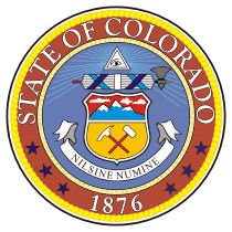 Official Colorado state seal.