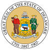 Official State Seal of Delaware.
