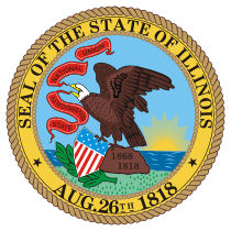 Official Illinois state seal.