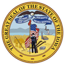Official Iowa state seal.