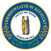 Official State Seal of Kentucky.