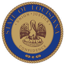 Official Louisiana state seal.