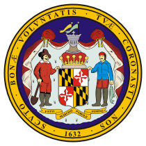 Official Maryland state seal.