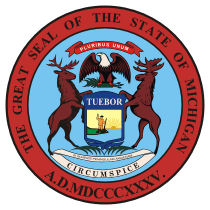 Official Michigan state seal.