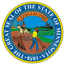 Official Minnesota state seal.
