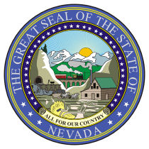 Official Nevada state seal.