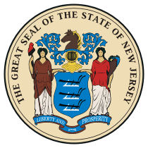Official New Jersey state seal.