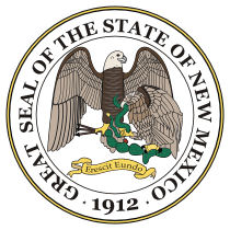 Official New Mexico state seal.