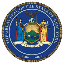 Official New York state seal.