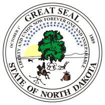 Official North Dakota state seal.
