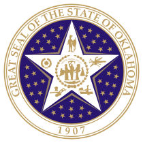 Official Oklahoma state seal.