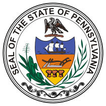 Official Pennsylvania state seal.