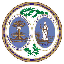 Official South Carolina state seal.