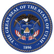 Official Utah state seal.