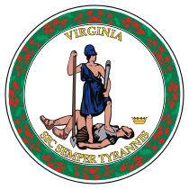 Official Virginia state seal.