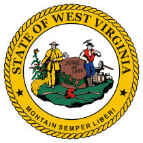 Official West Virginia state seal.