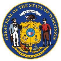 Official Wisconsin state seal.