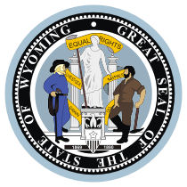 Official Wyoming state seal.