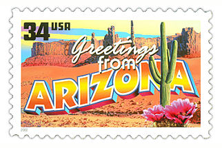 Official Arizona state stamp.