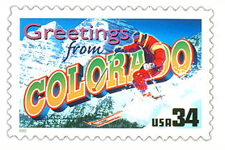 Official Colorado state stamp.
