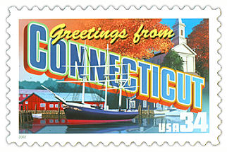 Official Connecticut state stamp.