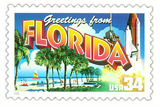 34 cent Florida state stamp.