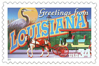 Official Louisiana state stamp.