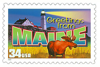 Official Maine state stamp.