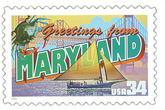 Official Maryland state stamp.