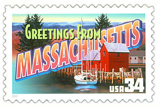 Official Massachusetts state stamp.