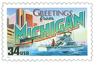 Official Michigan state stamp.