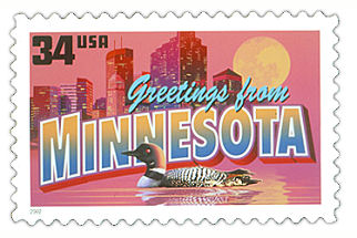 Official Minnesota state stamp.