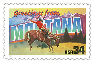 Official Montana state stamp.