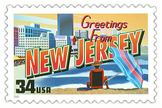 Official New Jersey state stamp.